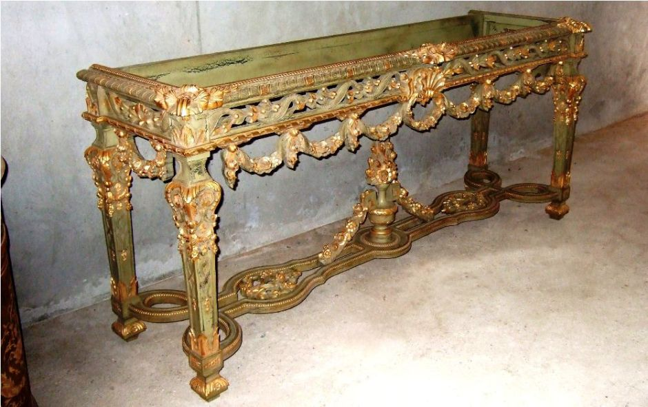 Louis Xiv Rococo Style Carved And Gilded Large Console