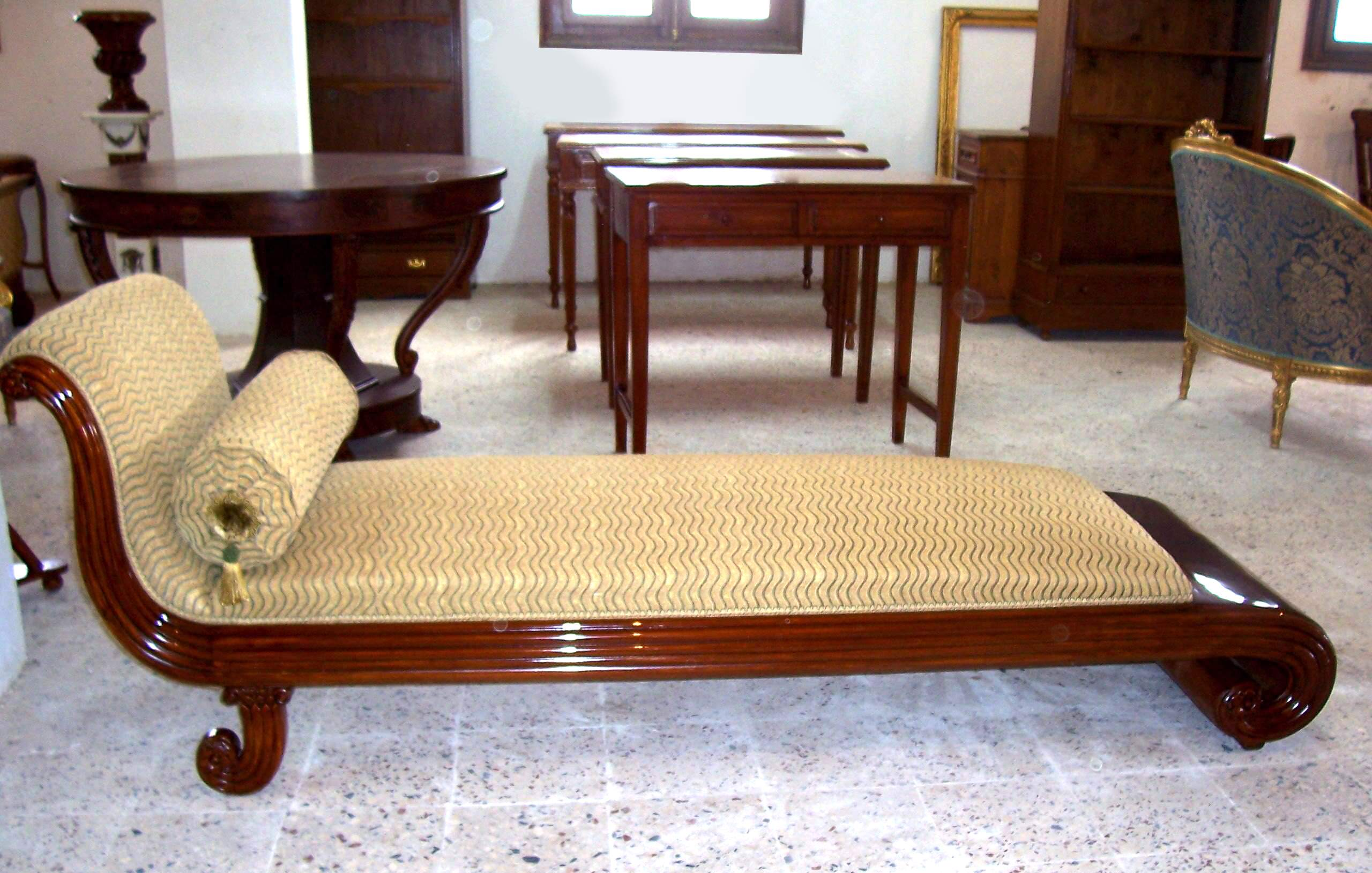 Italian Empire Style Chaise Lounge